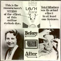 Før og efter en behandling med lash lure