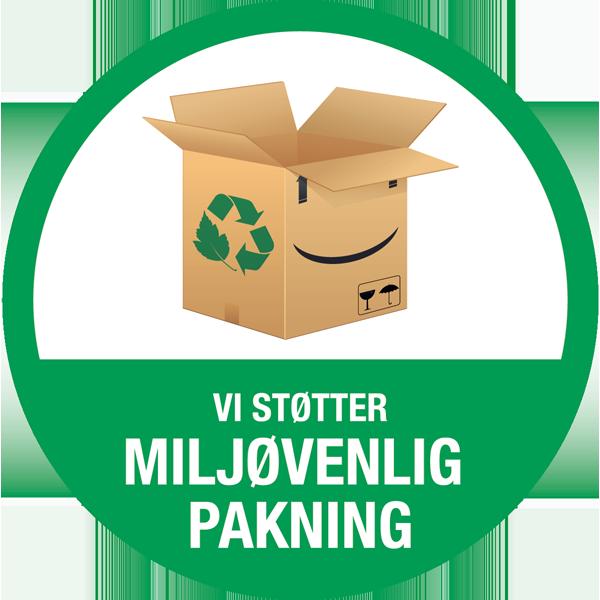billedtekst - vi støtter miljøpakning - badge