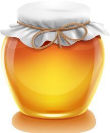 honning i krukke tegning