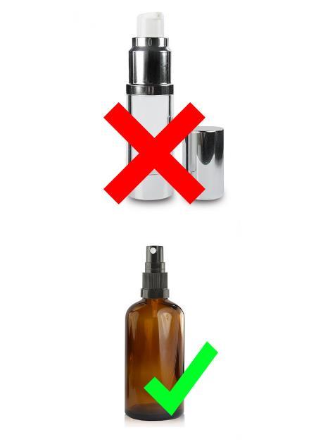 krydset plastik flaske - checkmark glas flaske