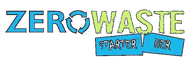 zero waste starter her grøn blå logo
