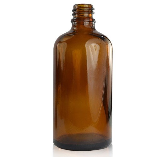 Image of PP - 100ml Amber Glass Dropper Bottle (18mm Neck)