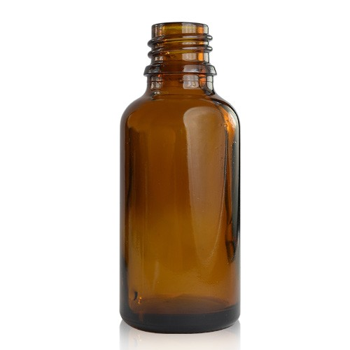 Image of   PP - 30ml Amber Glass Dropper Bottle (18mm Neck)
